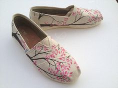 8f5f499ecce send me any brand canvas shoe-Branching out hand painted on TOMS shoes-made  to order-cutomize the colors
