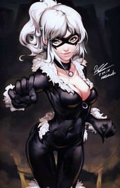 black cat marvel Black Cat by HOAIartworks on DeviantArt Spiderman Black Cat, Black Cat Marvel, Spiderman Art, Female Spiderman, Amazing Spiderman, Marvel Women, Marvel Girls, Comics Girls, Deviantart Disney