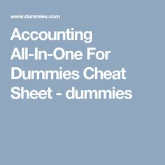Pass acca p3 paper during the december 2013 exam vision board 2013 accounting all in one for dummies cheat sheet dummies fandeluxe Gallery