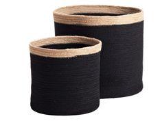 Black Round Jute Bins: Remodelista