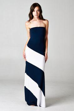 Penelope Dress in Navy on Emma Stine Limited