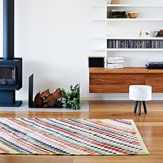 that rug + those builtins...house in jan juc, near melbourne from homelife, roseland greene