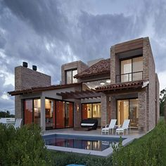 casas estilo rustico contemporaneo fachada - Buscar con Google