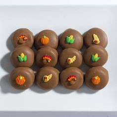 Thanksgiving chocolate peppermints