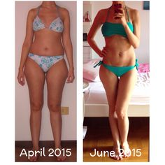 My before and after!!!! The results after two months of diet and exercise...very happy!!!