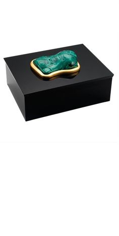 InStyle-Decor.com Designer 24kt Gold Malachite Jewelry Box, Luxury Wedding…