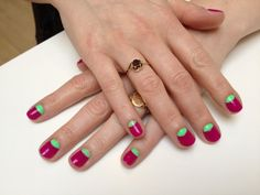 manicure | ... nail polish, nail, nails, nail lacquer, lacquer, watermelon manicure