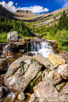 Siyeh Bend A waterfall on Lunch Creek in Siyeh Bend in Glacier National Park. We stopped here on our return from a boat cruise on St. Mary's Lake earlie... - All in Moving Systems - Google+