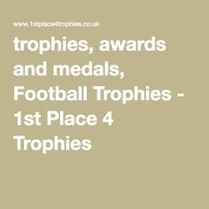Looking for Medals & Trophies? We are leading suppliers of sports trophies, resin trophies including football trophies,golf trophies, sports medals and more. Sports Trophies, Sports Medals, Football Trophies, Awards