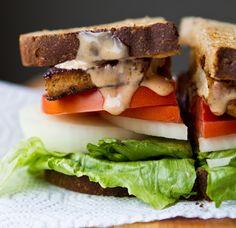chipotle tofu sandwich