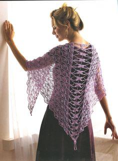 Kristin Omdahl: Crochet Dragon Fly Shawl