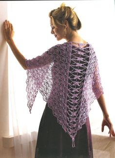 Kristin Omdahl: Crochet Dragon Fly Shawl