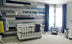 Project Nursery - Rustic Modern Nursery with Wood Accent Wall