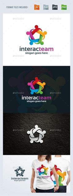 Interactions  Teamwork Logo Template — Vector EPS #colorful #flow • Available here → https://graphicriver.net/item/interactions-teamwork-logo-template/15848572?ref=pxcr