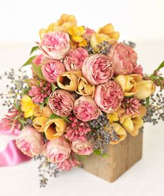 Bouquet of pink roses (arrangement by Nicolette Camille)