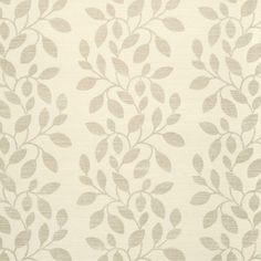 Love this leafy wallcovering.  Great gray wallpaper!