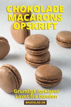 Rigtig god macarons opskrift. Gode chokolade macarons med chokoladefyld. God mørk chokolade ganache fyld. Macarons, Hamburger, Bread, Food, Hamburgers, Breads, Burgers, Bakeries, Meals