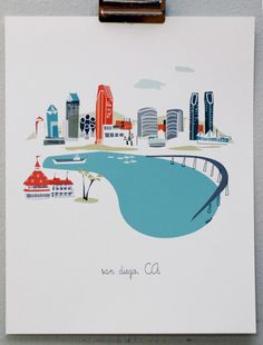 San Diego by albiedesigns on Etsy, $30.00  #munire #pinparty #MadeinUSA
