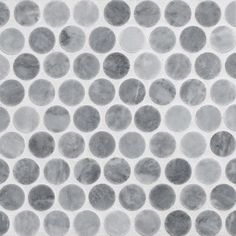 Penny Rounds Mosaic Tile Using Bardiglio Honed Marble The Clic Retro Round Has Been Updated A New Material Natural Stone