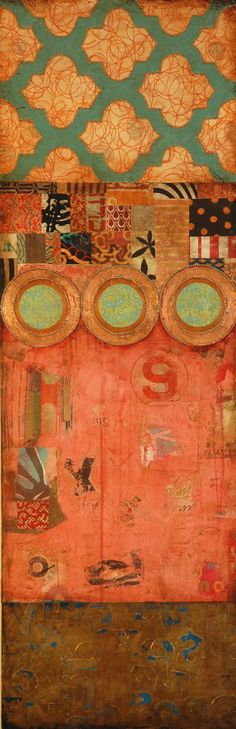 Jill Ricci--2010..Paradise, mixed media on canvas,