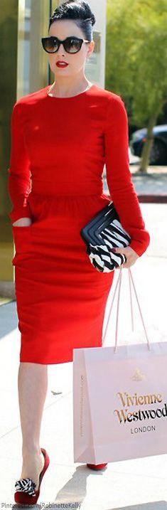 Street Style   Red Dress LBV ♥✤   KeepSmiling   BeStayElegant