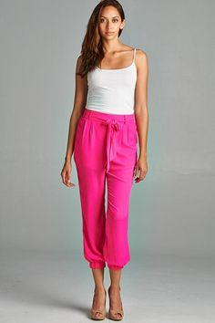 Women Woven Jogger Pants