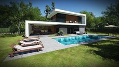 Modern house built with ultraenergetic technology. House Built, Modern Architecture, Technology, Building, Outdoor Decor, Home Decor, Tech, Decoration Home, Room Decor