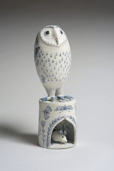 'Creatures of the Night' by Georgina Warne (porcelain)