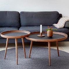 Tisch sofabord røget eg 2 størrelser