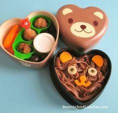Bento School Lunches: Bear Soba Bento. #casabento