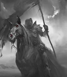 Grim reaper riding on horse digital wallpaper, drawing, death, monochrome, horseman HD wallpaper Grim Reaper Art, Don't Fear The Reaper, Dark Fantasy Art, Dark Art, Arte Horror, Horror Art, Horsemen Of The Apocalypse, Arte Obscura, Warrior Angel