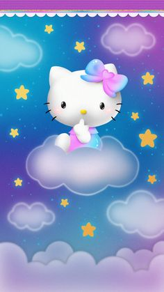 Hello Kitty Iphone Wallpaper, Hello Kitty Backgrounds, Iphone Wallpaper Glitter, Purple Wallpaper, Wallpaper Backgrounds, Melody Hello Kitty, Pink Hello Kitty, Hello Kitty Pictures, Anime Love Couple