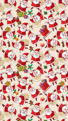 santa claus pattern texture background iphone wallpapers