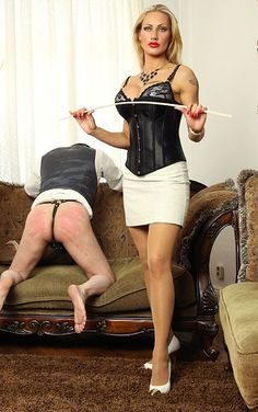 """strictotk: """" sub-male: """" A modern Wife explains to Her husband that, as Head of the Household, SHE will decide whether or not the the housework has been done to Her satisfaction. Her expression speaks volumes."""