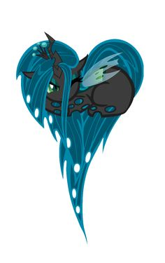 Queen Chrysalis Pony Heart by ZantyARZ.deviantart.com on @deviantART