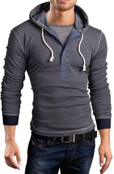 Grin&Bear Men's Long Sleeve Hoodie 2 in 1 contrast henley, dark grey, S, BH130 Grin&Bear http://www.amazon.com/dp/B00GGI8NFY/ref=cm_sw_r_pi_dp_PrVwub1Q5Q4H1