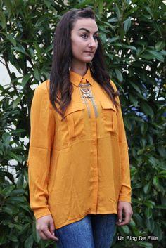 Une #chemise #moutarde #babou pour ensoleiller ce ciel gris SarahCroft bonne idée non ?