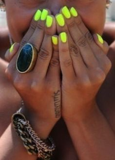 yellow nails tattoo placement!!