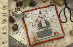 With Thy Needle and Thread Witches Night Out - Cross Stitch Pattern.