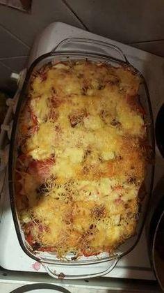 Rakott csirke, zöldséggel, sajtkrémmel