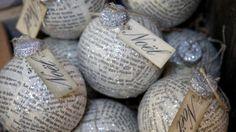 kranten kerstballen