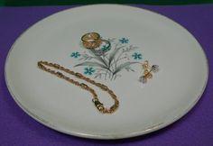 Mid Century Blue Flower Salad Plate by GrandmasTrove on Etsy