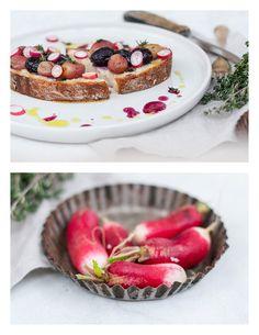 Weintrauben Thymian Brote mit Olivenöl | TheVeggieKitchn Blog