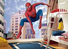 Hey, I found this really awesome Etsy listing at https://www.etsy.com/listing/225723042/spiderman-wall-mural-wallpaper-wall