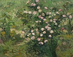 Roses (1889)by Vincent van Gogh (1853-1890). National Museum of Western Art user:Rlbberlin Wikimedia.