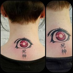 "This hauntingly beautiful Shinigami eye: | 17 Badass ""Death Note"" Tattoos That Will Give You Nightmares"