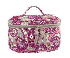 Vera Bradley Home and Away Cosmetic in Paisley Meets Plaid