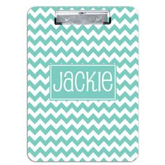 Personalized Clipboard - Chevron (your choice of color) www.sweetthoughtsboutique.com