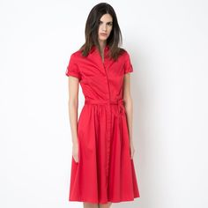 фото Платье-рубашка из хлопка стретч LAURA CLEMENT