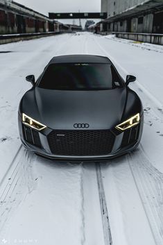 "motivationsforlife: ""Matte Daytona Grey Audi R8 V10 Plus by Sam A (Mode Carbon)"""